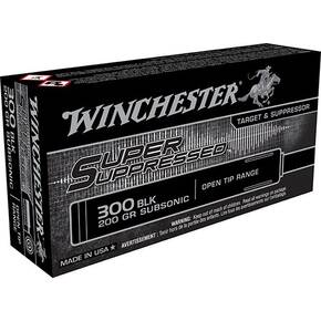 Winchester Super Supressed Rifle Ammunition .300 AAC Blackout 200 gr FMJOT 1060 fps 20/ct