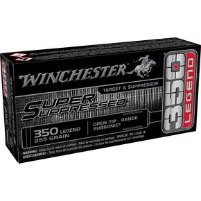 Winchester Super Suppressed Rifle Ammunition .350 Legend 255gr OT 1060 fps 20/ct