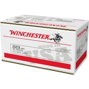 Winchester USA Rifle Ammunition .223 Rem 55 gr FMJ 3240 fps 200/ct