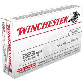Winchester USA Lake City Rifle Ammunition .223 Rem 55gr FMJ 3270 fps 20/ct