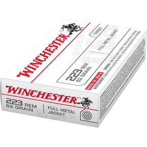 Winchester USA Rifle Ammunition .223 Rem 62 gr FMJ  - 20/box