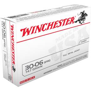 Winchester USA Rifle Ammunition .30-06 Sprg 147 gr FMJ  - 20/box