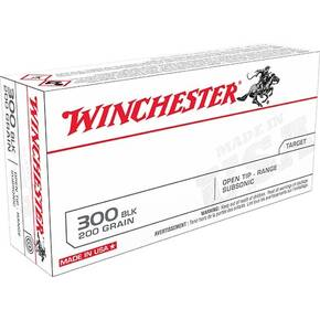 Winchester USA Rifle Ammunition .300 AAC Blackout 200 gr OTR 1060 fps 20/ct