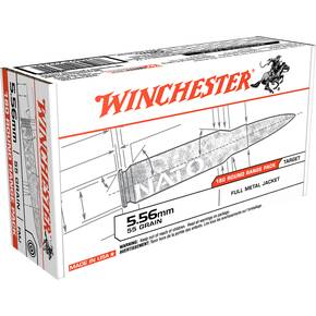 Winchester USA Rifle Ammunition 5.56mm 55 gr FMJ 180/ct