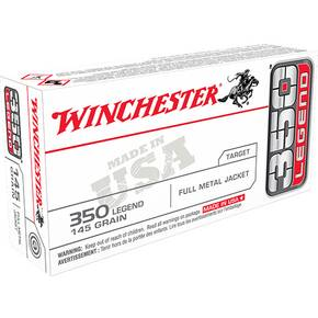 Winchester USA Rifle Ammunition .350 Legend 145 gr FMJ 2350 fps 20/ct