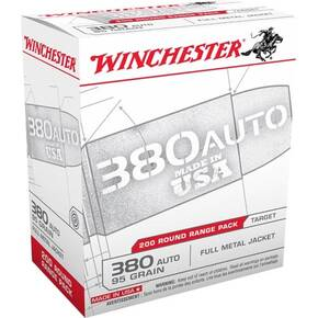 Winchester Government Handgun Ammunition .380 ACP 95 gr FMJ 200/ct