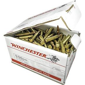 Winchester USA Rifle Ammunition 5.56mm 55 gr FMJ 3270 fps 150/ct