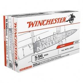 Winchester Lake City Rifle Ammunition 5.56mm 55gr FMJ 3270 fps 200/ct