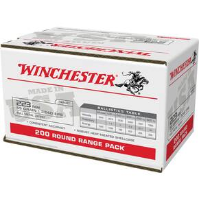 Winchester USA Lake City Rifle Ammunition .223 Rem 55gr FMJ 3240 fps 200/ct