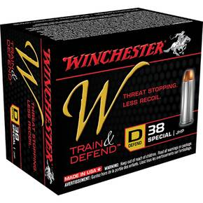 Winchester W Train & Defend Handgun Ammunition .38 Special 130 gr JHP 20/ct