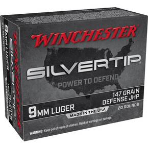 Winchester Silvertip Handgun Ammunition 9mm Luger 147gr HP 1010 fps 20/ct