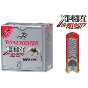 "Winchester Xpert High Velocity Steel Shotshells 12 ga 2-3/4"" 1-1/16 oz #4 25/Box"