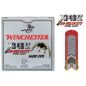 "Winchester Xpert High-Velocity Steel 12 ga 2 3/4""  1 1/8 oz #6 1400 fps - 25/box"