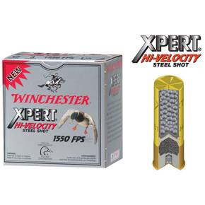 "Winchester Xpert High-Velocity Steel 20 ga 3""  7/8 oz #4 1500 fps - 25/box"