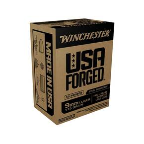 Winchester USA Forged Handgun Ammunition 9mm Luger 115 gr FMJ 1190 fps 500/ct