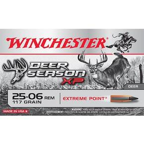 Winchester Deer Season XP  Rifle Ammunition .25-06 Rem 117 gr PT 3100 fps 20/ct