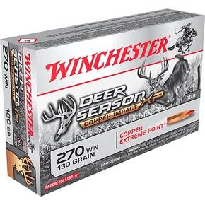 Winchester Deer Season XP Copper Impact Rifle Ammunition .270 Win 130 gr PT 20/ct