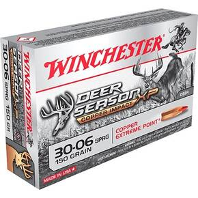 Winchester Deer Season XP Copper Impact Rifle Ammunition .30-06 Sprg 150gr PT 2920 fps 20/ct