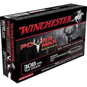 Winchester Super-X Power Max Bonded Rifle Ammunition .308 Win 150 gr PHP 2850 fps 20/ct