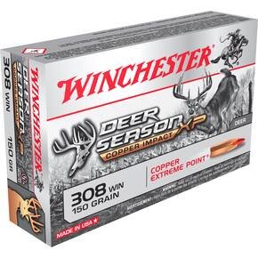 Winchester Deer Season XP Copper Impact Rifle Ammunition .308 Win 150 gr SC 2810 fps 20/ct