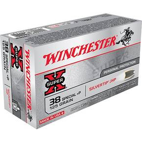 Winchester Super-X Handgun Ammunition .38 Spl (+P) 125 gr HP 945 fps 50/ct