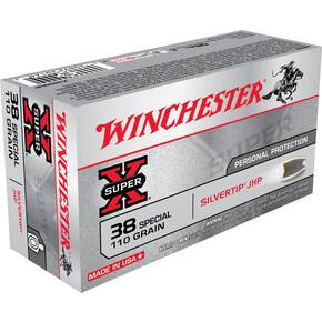 Winchester Super-X Handgun Ammunition .38 Spl 110 gr HP 945 fps 50/ct