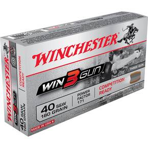 Winchester Win3Gun Handgun Ammunition .40S&W 180 gr 50/Box