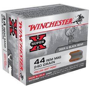Winchester Super-X Handgun Ammunition .44 Mag 240 gr HSP 1180 fps 20/ct