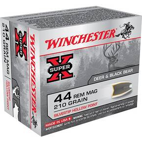 Winchester Super-X Handgun Ammunition .44 Mag 210 gr HP 1250 fps 20/box