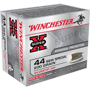 Winchester Super-X Handgun Ammunition .44 Spl 200 gr HP 900 fps 20/box