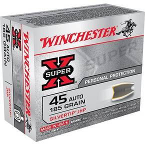 Winchester Super-X Handgun Ammunition .45 ACP 185 gr HP 1000 fps 20/ct