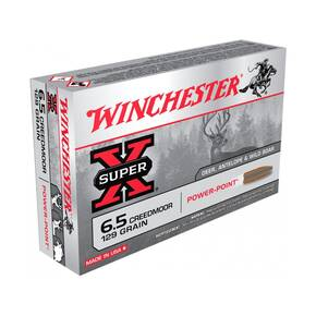 Winchester Super X Ammunition 6.5 Creedmoor 129gr PP 2277 fps 20/ct