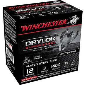 "Winchester Drylok Super Steel Magnum 3"" 1-1/4 oz #4 1375 fps 10/Box"