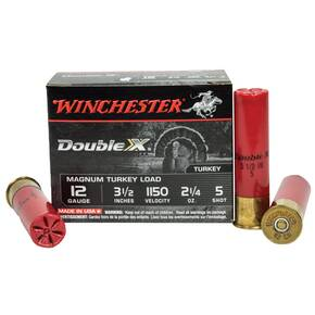 "Winchester Supreme Double-X Magnum Turkey 12 ga 3 1/2"" MAX 2 1/4 oz #5 1125 fps - 10/box"