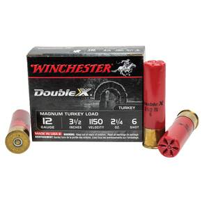 "Winchester Supreme Double-X Magnum Turkey 12 ga 3 1/2"" MAX 2 1/4 oz #6 1125 fps - 10/box"