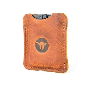 Trailblazer Firearms Life Card Leather Sleeve Light Brown Worn Saddle