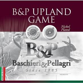 "B&P Upland Game Shotshells 12 ga 3"" 1-7/8 oz 1250 fps #4 25/ct"