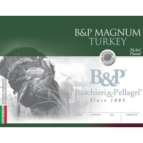 "B&P Super Magnum Turkey Shotshell 12 ga. 3 1/2"" 2-1/4 oz. 1200 fps #4 10/ct"