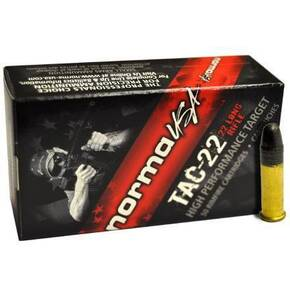 Norma Tactical Rifle Ammunition .22LR 40gr LRN 1100 fps 50/ct