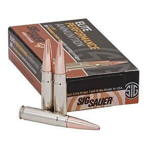 Sig Sauer Elite Hunting Rifle Ammunition  .300 AAC Blackout 220gr  V-Crown 20/ct