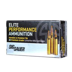 Sig Sauer Varmint and Predator Rifle Ammunition .223 REM 40gr 3650 fps 20/ct