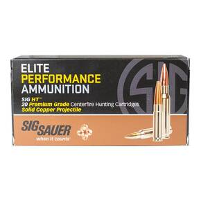 Sig Sauer Elite Hunting Rifle Ammunition .308 Win 150gr HT 2900 fps 20/ct