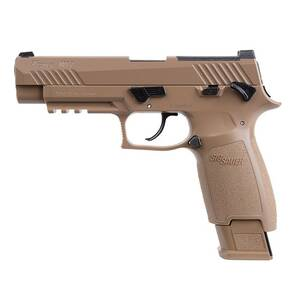 Sig Sauer Semi-automatic, CO2-powered P320-M17 Air Pistol - 20rd Pellet Mag Coyote Tan