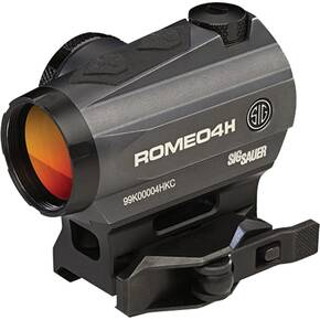 Sig Sauer ROMEO4H 1x20mm Red Dot Sight - Green Horseshoe Dot Reticle Graphite