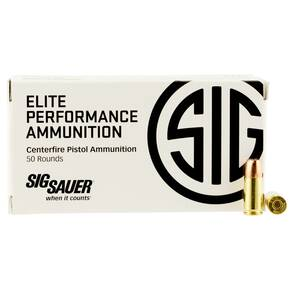 Sig Sauer Elite V-Crown Handgun Ammunition 9mm Luger 124gr JHP 1165 fps 50/ct