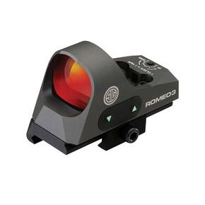 Sig Sauer Romeo3 Reflex Sight - 1x25mm 3 MOA Red Dot 1.0 MOA Adj M1913 Mount