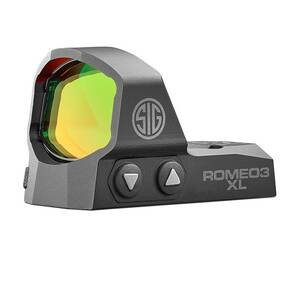 Sig Sauer Romeo3 XL Red Dot Sight 1x35mm 6 MOA 1.0 MOA Adj M1913 Mount - Black
