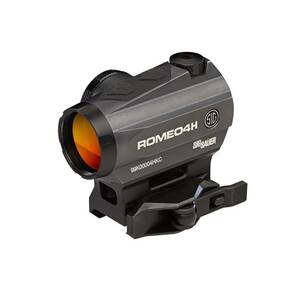 Sig Sauer ROMEO4H Red Dot Sight - 1x20mm 2 MOA Red Dot Ballistic Circle Dot Reticle Graphite