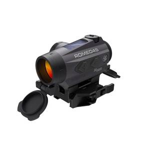 Sig Sauer ROMEO4S Solar Powered Red Dot Sight - 1x20mm 2 MOA Red Dot Ballistic CirclePlex Graphite