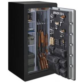 Stack-On 36-40 Gun Safe w/Electronic Lock, Backlit-Matte Black/Silver Door
